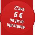 Zľava 5 EUR na prvé upratovanie